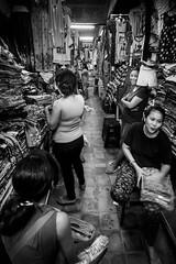 Sukawati market, Bali, Indonesia (pas le matin) Tags: travel voyage bw nb monochrome market marché noiretblanc blackandwhite world people woman women clothes vêtements femme pasarsenisukawati sukawatimarket bali indonesia indonésie asia asie southeastasia canon 7d canon7d eos7d canoneos7d