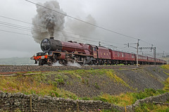 Wet and Wild on Shap (DWH284) Tags: 6201 princesselizabeth princessroyalclass cumbrianmountainexpress shap greenholme drystonewall steamtrain wcml uksteam