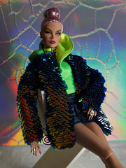 Neon couple (♫ Belenojon ♫) Tags: fashion royalty violaine perrin lukas maverick integrity toys doll