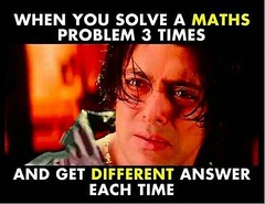 When You Solve A Maths Problem 3 Times And Get Different Answer Each Time !! (gagbee18) Tags: aww celebrities funny mathematics salmankhan students