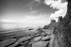 sea stacks (Albin Thorsell) Tags: albinthorsell sweden öland seastack raukar byrum bnw summer water baltic sea stones