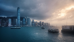 Victoria Harbour (Kristian Bell) Tags: hong kong victoria harbour typhoon boats cityscape water sea dramatic sony kris kristian bell