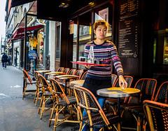 CleanTable.jpg (Klaus Ressmann) Tags: klaus ressmann omd em1 fparis france peoplestreet winter cafe candid flcpeop streetphotography unposed waitress klausressmann omdem1
