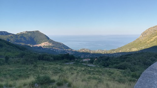 Maratea seen from the mountain pass