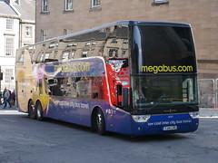 Stagecoach Van Hool TDX27 Astromega, in Megabus livery, YJ14LHD 50252 operating Citylink service 900 to Edinburgh at Elder Street prior to entering Edinburgh Bus Station on 8 August 2019. (Robin Dickson 1) Tags: busesedinburgh stagecoach vanhooltdx27astromega megabus citylink yj14lhd