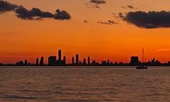 Sunset and night (yt.6886) Tags: sunset toronto water humberbay towp torontophotowalk
