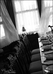 Come Sit... (angelakanner) Tags: canon70d tamron18400 blackwhite bayardcuttingarboretum mansion diningroom finechina light sundaylights
