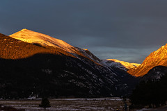 Fall River Rd, Estes Park, Rocky Mountain National Park (aud.watson) Tags: america northamerica us usa colorado rockymountainnationalpark fallriverroad mountain valley lake glacialvalley winter snow ice sunrise dawn