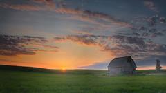 Quiet Time (wdterp) Tags: barn farm farmyard sunset evening cloudsstormssunsetssunrises clouds iowa usa