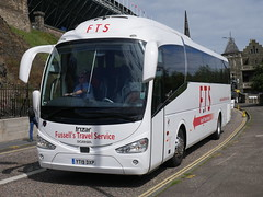 Fussell's Travel Service of Ulverston Scania K360IB4 Irizar i6 YT19DXP at Johnston Terrace, Edinburgh, on 8 August 2019. (Robin Dickson 1) Tags: irizari6 busesedinburgh scaniak360ib4 yt19dxp fussellstravelserviceofulverston