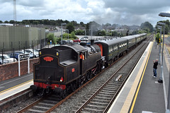"""LMS/NCC WT Class """"Jeep"""" (4) at Antrim, August 2019 (Photos by Nathan Lawrence) Tags: rpsi steam trains ireland antrim station railway train locomotive diesel 4 ncc lms wt class jeep mk2 coaches portrush flyer"""