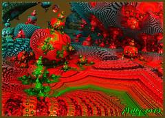 *My village... (MONKEY50) Tags: fractal art colors digital psp m3d abstract red blue summer green fantasy musictomyeyes hypothetical artdigital awardtree exoticimage netartii flickraward autofocus contactgroups