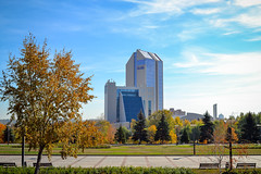 Hotel Center Victoria. Donetsk. (denkuznets81) Tags: donetsk donbass city cityscape architecture sky park донецк донбасс город архитектура парк hotel гостиница