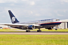 XA-OAM, Boeing 767-2B1/ER of Aeromexico. (David James Clelford Photography) Tags: xaoam boeing7672b1er aeromexico 27r londonheathrowairport londonheathrow 767 boeing767 b762 aircraft airplane airliner airport aeroplane jet jetliner aviation civilaviation egll lhr