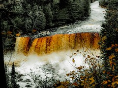 Upper Tahquamenon Falls 2 (MaryMarthaK) Tags: park motion amber orange water river waterfall falls upper michigan upperpeninsula