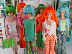 colorful vintage (modcasey) Tags: colorful vintage mod barbie dolls clone doll
