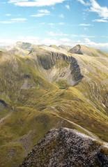 Mamores from Stob Bàn (Francis Mansell) Tags: mountain ridge mamores sgùrraniubhair ambodach binneinmor sky cloud stobbàn scotland scottishhighlands scan scanned scannedfromnegative negative