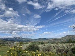 Snowmass panorama (remiklitsch) Tags: sky green rockies remiklitsch yellow blue wildflowers clouds panorama mountains