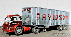 White 3000 Davidson Fred Gruin Jr Colorized (gdmey) Tags: white3000 white whitemotortruck fallenflag colorized truck trucking