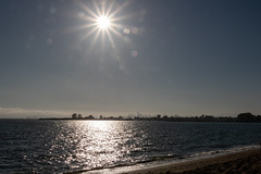 Sun, city and beach (vishal anand) Tags: canon t6s 760d tamron tamron18400 nature california sanfransisco oakland beach bay