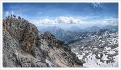 Top of Germany (#explore) (Norbert Kaiser) Tags: bayern bavaria zugspitze alpen alps gipfel gipfelkreuz wettersteingebirge gebirge berge aussicht landschaft landscape natur nature panorama felsen schnee snow