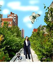 afternoon walk (ladybumblebee) Tags: digitalart collage art womanpoodle contemporarywomenartists