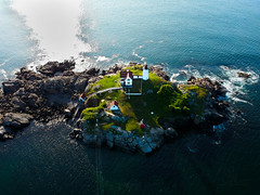 Nubble Lighthouse (Phiery Phoenix Photography) Tags: phieryphoenixphotography phiery phoenix phieryphoenix photography dji spark djispark uas unmanned aerial system drone drones aircraft remote pilot york maine me nubble light house lighthouse island summer summertime water fish fishing aviation suas altitude sky colors