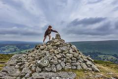 Making a Mountain (rmrayner) Tags: makingamountain dartmoor bonehillrocks devon slidersunday granite stonepile peak moor landscape stones