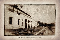 Is this how it looked in 1902? (Michael P. Mills) Tags: monochrome processed boiseidaho 1902 facsimile adacounty modern image historical postal 20thcentury oldtime noperson