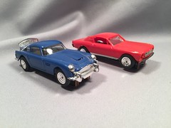 Gilbert Road Race Set Cars (toyfun4u) Tags: vintage james bond 007