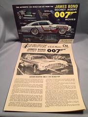 Airfix Aston Martin Model Brochure and Instructions (toyfun4u) Tags: vintage james bond 007