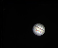 20190810 20-25UT Io, Jupiter-Europa (Roger Hutchinson) Tags: jupiter io europa transit space astronomy astrophotography london celestron celestronedgehd11 asi174mm zwo planets