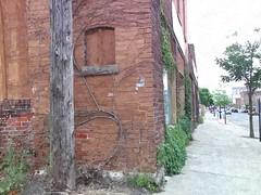 Down on Plum Street...HSS (novice09) Tags: slidersunday fotosketcher brick building redwing downtown painterly