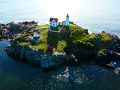Nubble Lighthouse II (Phiery Phoenix Photography) Tags: phieryphoenixphotography phiery phoenix phieryphoenix photography dji spark djispark uas unmanned aerial system drone drones aircraft remote pilot york maine me nubble light house lighthouse island summer summertime water fish fishing aviation suas altitude sky colors