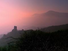Château de Ramstein (67) dans la brume (Nathery Reflets) Tags: château brume paysage coucherdesoleil grandest alsace basrhin scherwiller ortenbourg