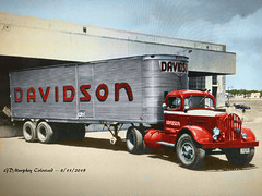 White Davidson Colorized (gdmey) Tags: white whitemotortruck davidson fallenflag colorized trucking truck
