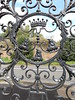 Iron Gate with Boars' Heads, Dunham Massey, Greater Manchester, 11 August 2019