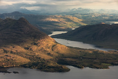 The Mountains of Torridon (Andrew G Robertson) Tags: torridon scotland rain sun beinn alligin tom na gruagaich munro mountain bealach ba sheildaig