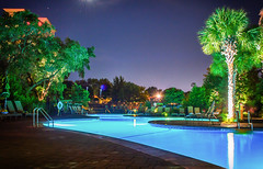 Myrtle Beach Marriot (Kristina Leszczak) Tags: marriot marriothotel resort hotel pool outside outdoor outdoors southcarolina sc landscape summer nikon nikond3200 longexposure night nighttime palmtrees
