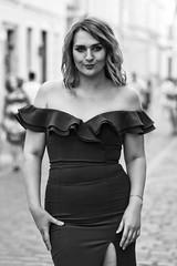 Vita (bartlomiej.chodyna) Tags: portrait model posing walk beauty summer evening photo photography photosession bydgoszcz nikon tamron hair shadow white black bw