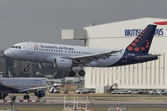 OO-SSH / Airbus A319-112 / 2925 / Brussels Airlines (A.J. Carroll (Thanks for 1 million views!)) Tags: oossh airbus a319112 a319100 a319 319 2925 cfm565b6p brusselsairlines staralliance gsfr 44ce68 london heathrow lhr egll 27l