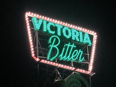 Victoria Bitter Sign (Kokkai Ng) Tags: victoria bitter sign elsternwick melbourne neon iconic green beer brighton nepean highway night dark lit australia vb