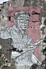 Ribeira - Porto (TwandB) Tags: ribeira porto art building old man frederico draw anfitrião streetart