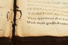 Old book (ironicdream) Tags: macromonday printedword