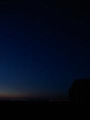 Pleyades, Hyades, Orion nebula at dawn (Suicidal_zombie) Tags: astronomy astro night pleiades hyades orion aurora dawn sunrise