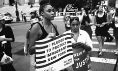 Lights for Liberty Rally - Foley Square (neilsonabeel) Tags: nikonn90s nikon nikkor blackandwhite protest newyorkcity film analogue manhattan