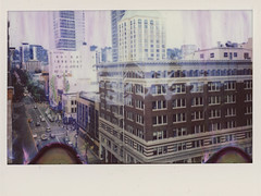 Downtown Portland, OR (The 69th Dimension) Tags: instaxwide instax mint cameras portland pdx pnw pacificnorthwest oregon film filmphotography polaroid instantfilm doubleexposure
