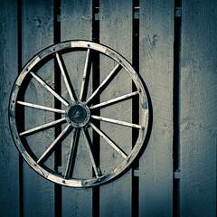 (I-C-THNGS (David Starling)) Tags: barn wheel spoke wood wooden fence wagon circle connecticut ct icthngs stonington