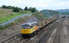56049 at Chesterfield (Alexander Cromarty) Tags: railway britishrail chesterfield englishelectric diesellocomotive midlandmainline class56 britishrailway 56049 chesterfieldrailwaystation colasrailfreight mirleesengine engineertrains weldedrailwagons 6c78oakhamtobelmontdownsidings 56049'robinoftemplecombe' robinoftemplecombe