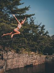 Leap (tobinyates) Tags: midair floating flight jump cliffjumping soaring freefall canon canonphotography shotoncanon teenagephotographer teenphotography